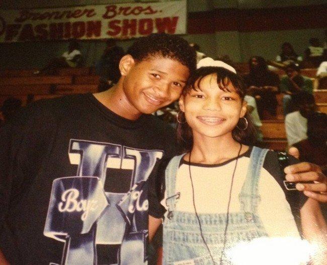 Pessoas que conheciam celebridades antes da fama - Usher