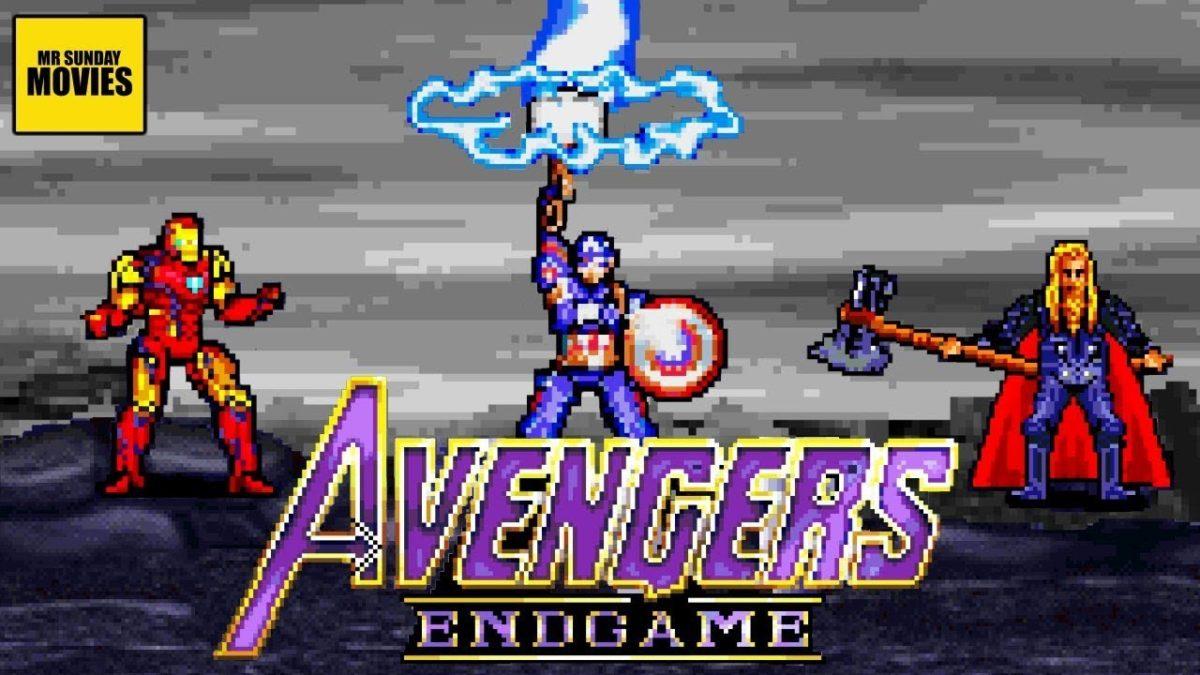 Vingadores Endgame em 16 bits