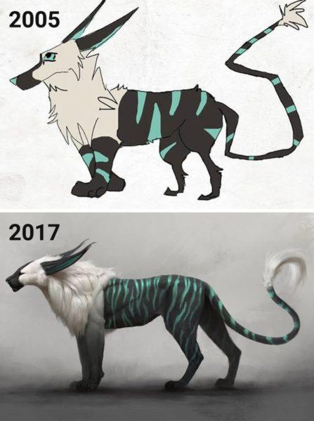 Artistas recriaram os próprios desenhos para incentivar outros