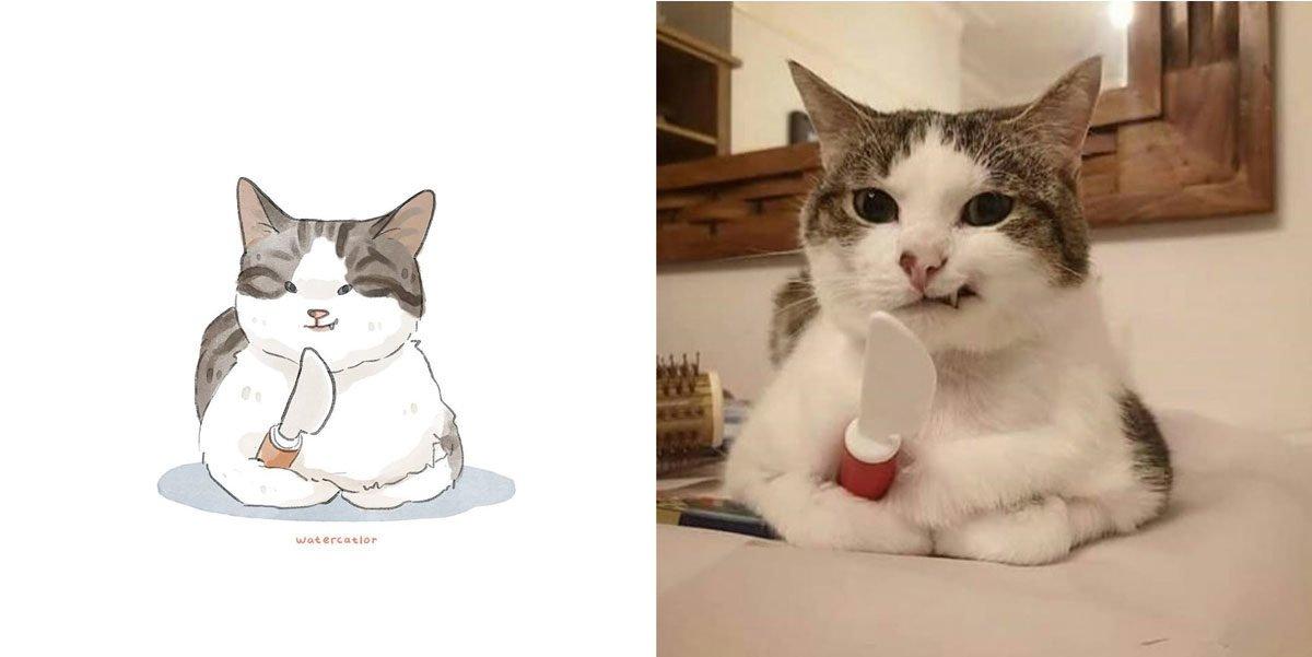 Memes de gatos: artista ilustra situações felinas inusitadas e divertidas