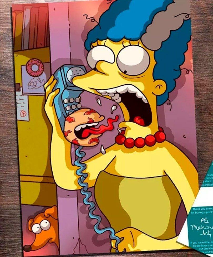 Essa versão horror de Os Simpsons vai deixar você de boca aberta 10