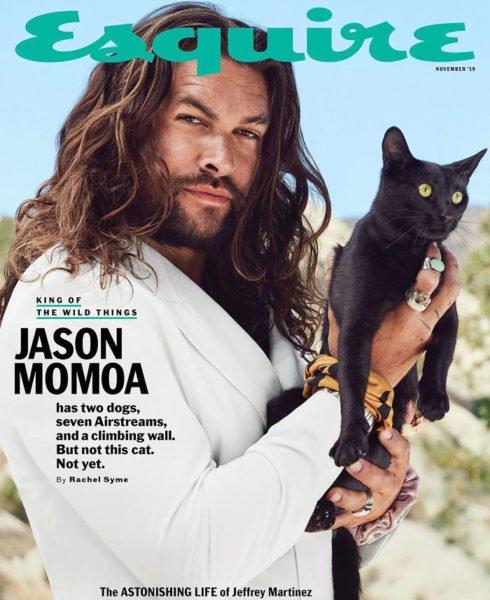 Novas fotos de Jason Momoa tiradas para a Revista Esquire