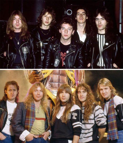 O antes e depois de algumas bandas famosas no cenário da música