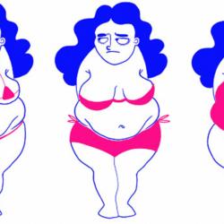 Ilustrações revelam segredos do dia a dia sobre o que mulheres pensam