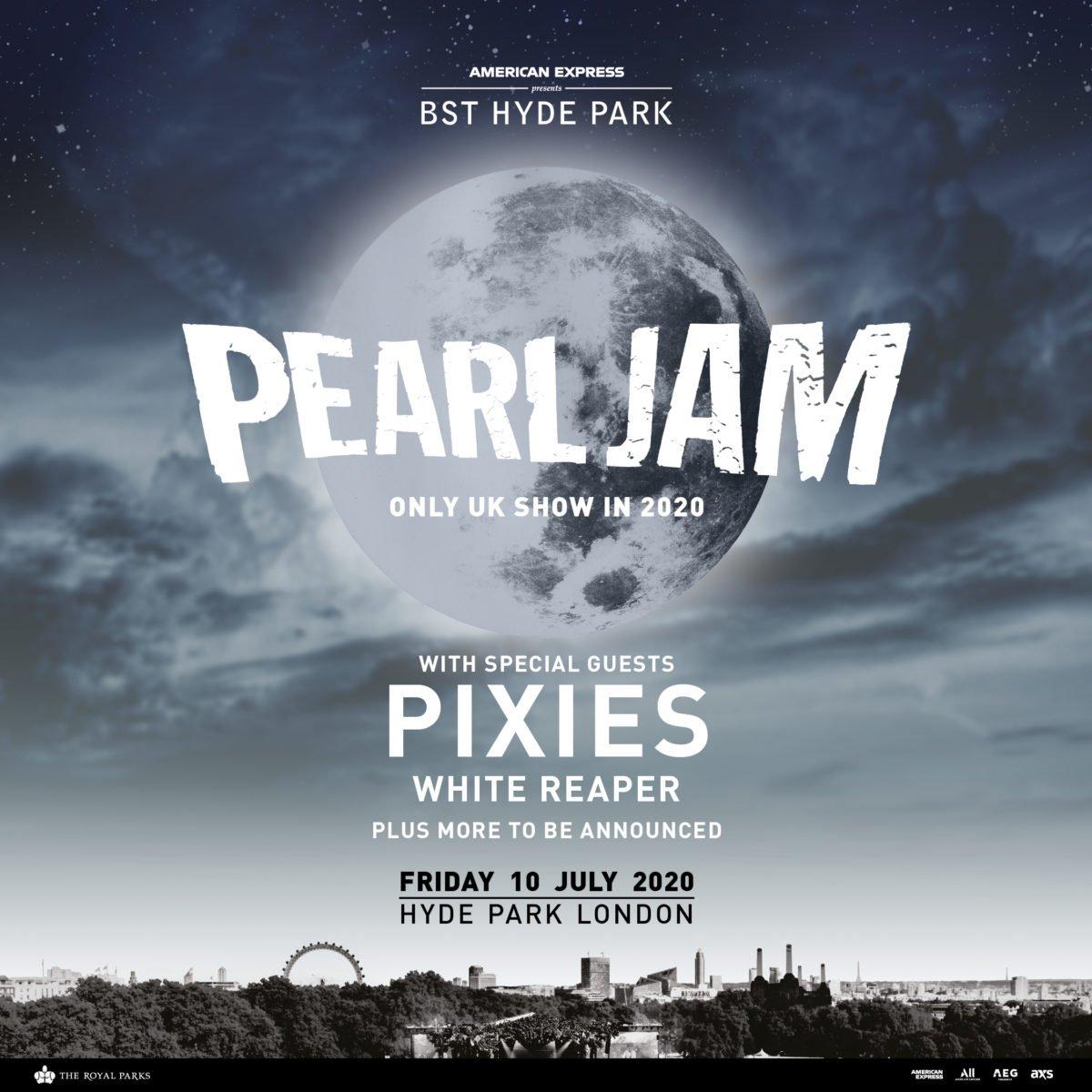 Pearl Jam retorna aos palcos em 2020 e fará shows com Faith no More 2