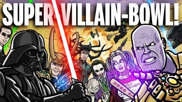 Super Viloes guerreando entre si para descobrir quem e o Vilao Supremo