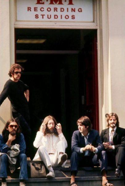 The Beatles bastidores da foto do álbum Abbey Road