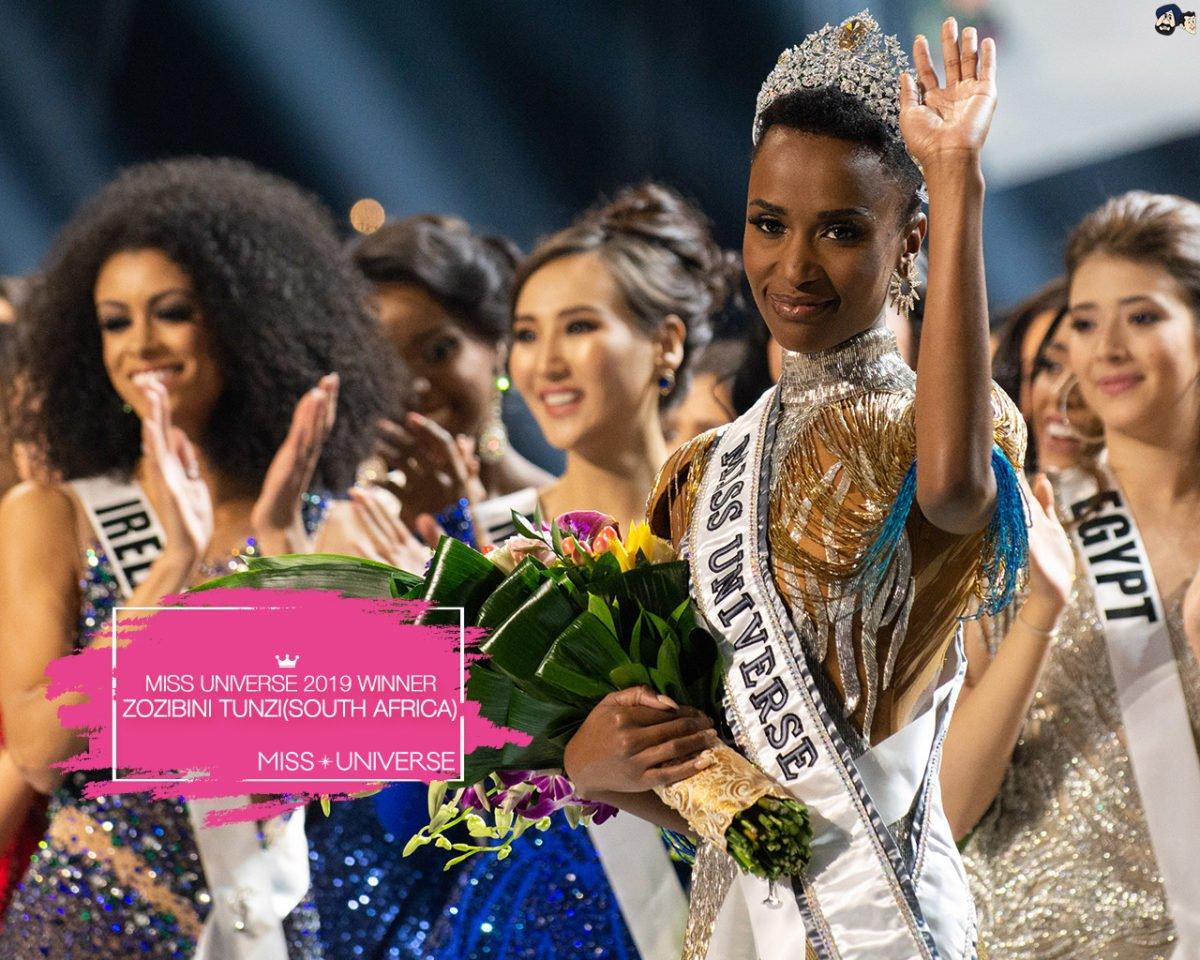 Zozibini Tunzi concorrente sul africana eleita a Miss Universo 2019