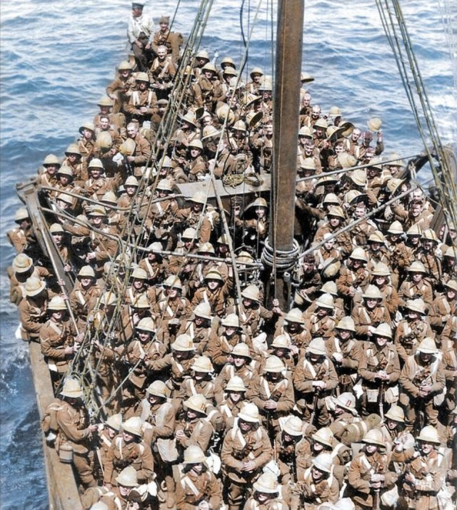 Fotos coloridas da Primeira Guerra Mundial 12
