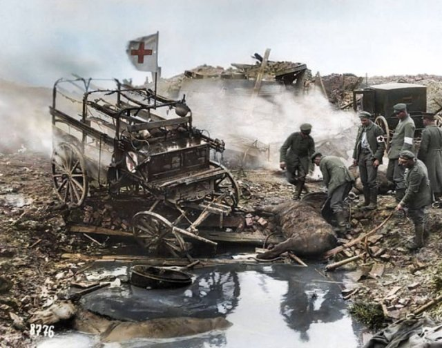 Fotos coloridas da Primeira Guerra Mundial 15