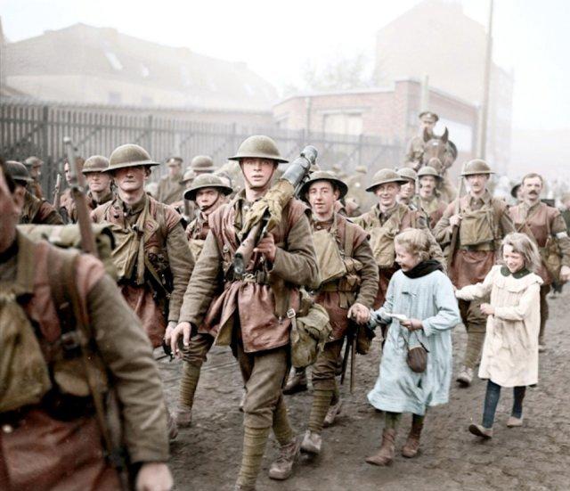 Fotos coloridas da Primeira Guerra Mundial 45