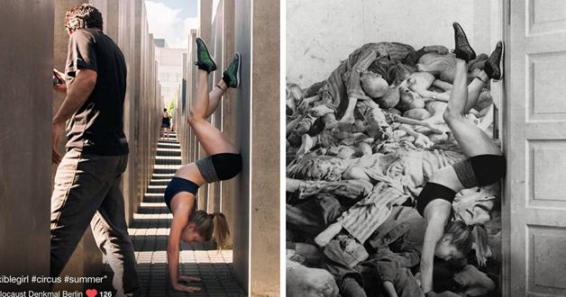 Judeu cria fotos do holocausto com imagens de turistas que nao respeitaram a historia 1