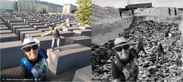 Judeu cria fotos do holocausto com imagens de turistas que nao respeitaram a historia 5