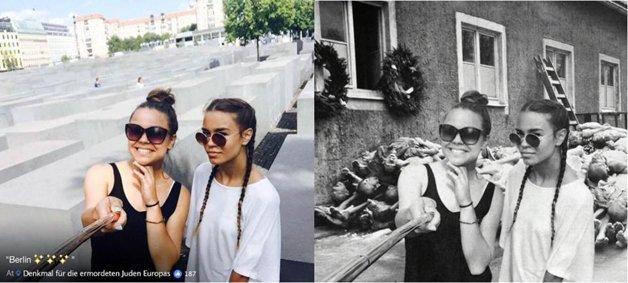 Judeu cria fotos do holocausto com imagens de turistas que nao respeitaram a historia 6