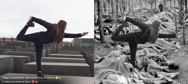 Judeu cria fotos do holocausto com imagens de turistas que nao respeitaram a historia 8