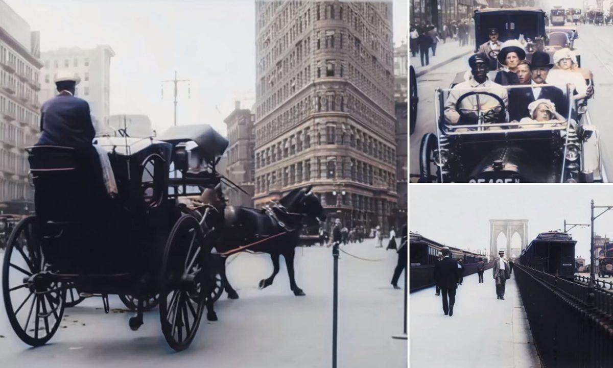 Cidade de Nova York em 1911 vídeo mostra como seria cidade em 4K