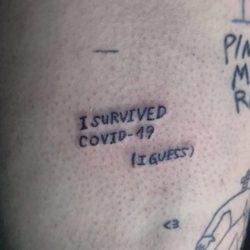 Já tem pessoas fazendo Tatuagens do Coronavírus