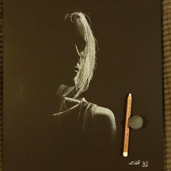 Zulf: artista londrino usa carvão e cria arte que nos leva a achar que se trata de uma fotografia
