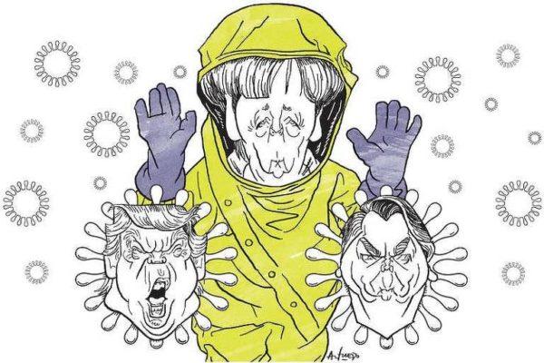 Presidente do Brasil em charges: desdém de Bolsonaro com o coronavírus foi registrado por ilustradores em veículos estrangeiros
