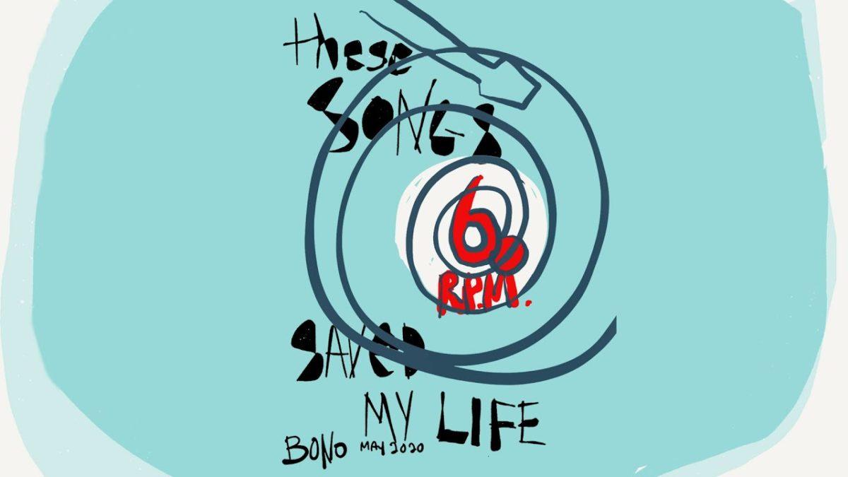 Bono Vox o líder da banda U2 divulga as músicas que salvaram sua vida e compartilha 60 Songs That Saved My Life com os fãs