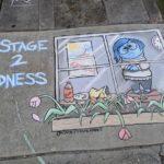 Casey Drake artista autodidata reproduz personagens da Cultura Pop em desenhos de giz durante quarentena e reforça distanciamento social 14