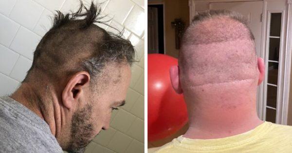 Essas pessoas resolveram cortar o próprio cabelo na quarentena e e muito provavelmente se arrependeram logo depois