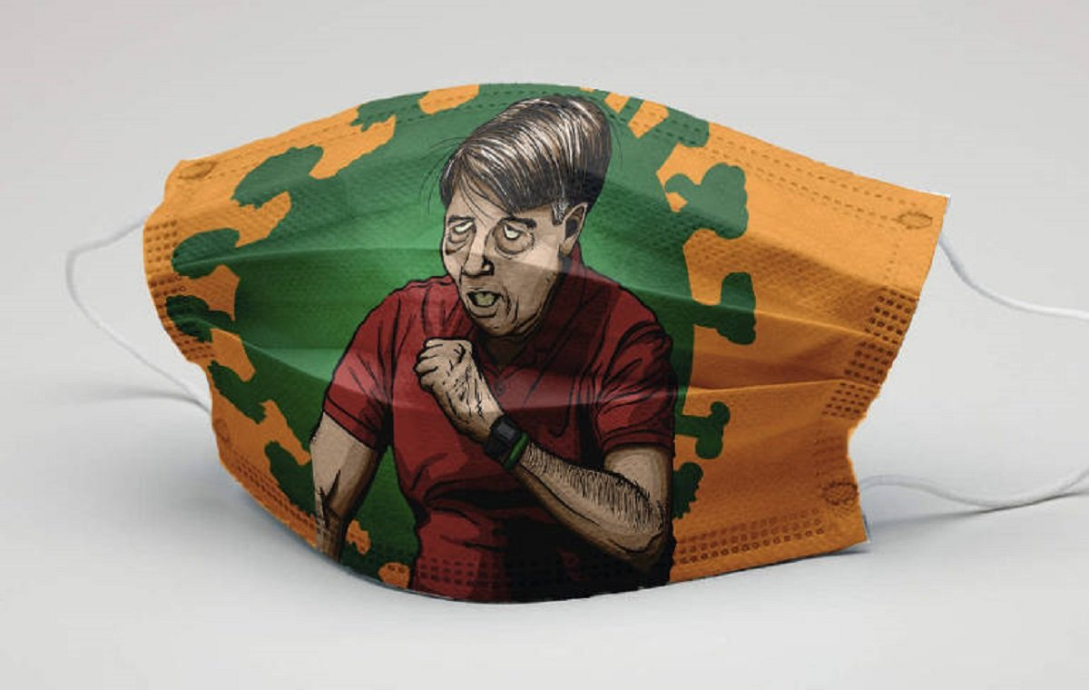 Julihermes Cavalcanti usa Sergio Moro e Jair Bolsonaro como inspiração para máscaras