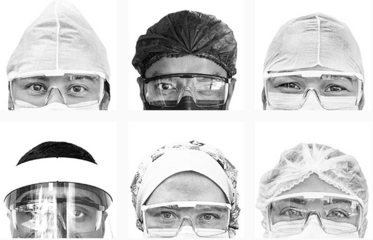 Olha pra mim fotógrafo pernambucano registra os olhares dos profissionais de saúde durante a pandemia do Covid19