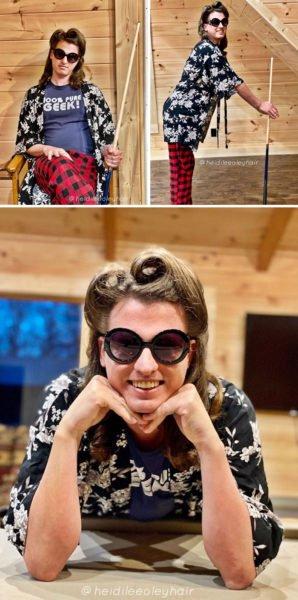 Sem poder trabalhar, Heidi Oley produz um penteado diferente por dia em seu namorado