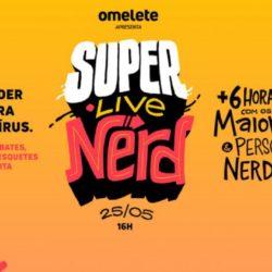 """SuperLiveNerd: Omelete fará """"super live"""" no Dia do Orgulho Nerd para arrecadar fundos de combate à Covid-19"""