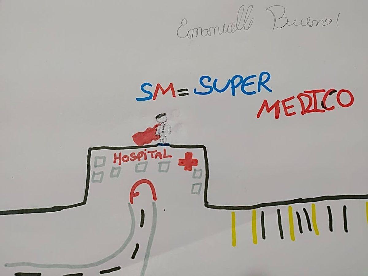 Desenhos de crianças são mensagens de apoio a médicos durante a pandemia da Covid-19