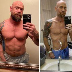 Mike Schultz: seis semanas após ter se infectado com a Covid-19, enfermeiro revela fotos do antes e do depois e resultado surpreende