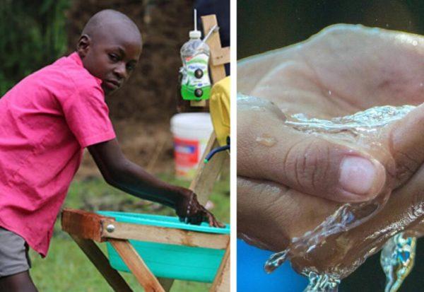 Stephen Wamukota garoto de 9 anos usa a criatividade e cria engenhoca para lavar maos e prevenir a COVID1919