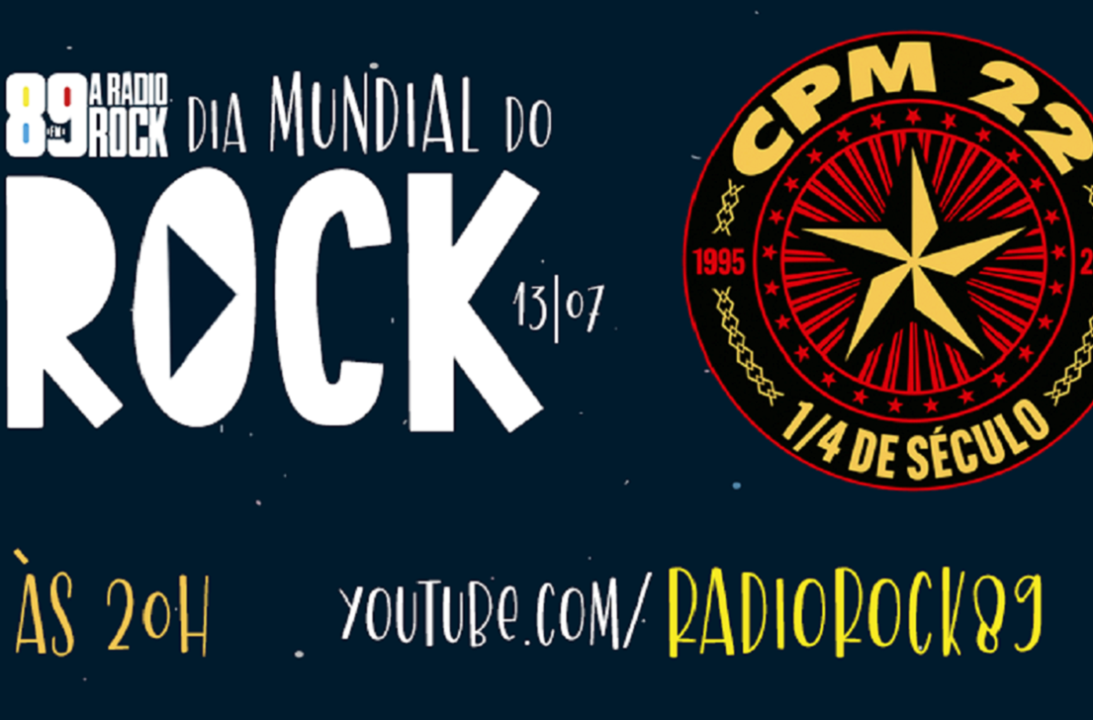 Dia mundial do Rock virtual confira horarios de lives de Raimundos na LivePlanetaBrasil e e CPM 22 na Radio Rock 3