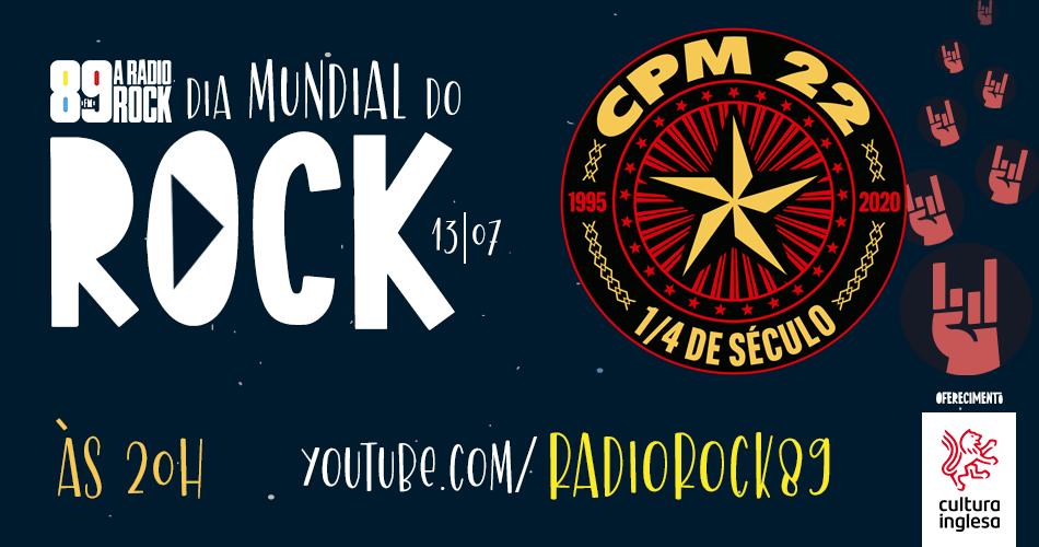 Dia mundial do Rock virtual confira horarios de lives de Raimundos na LivePlanetaBrasil e e CPM 22 na Radio Rock