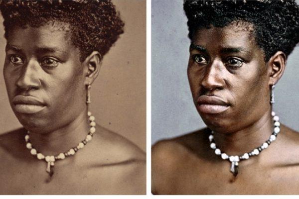 Marina Amaral artista digital restaura fotos tiradas antes da abolicao da escravidao 5
