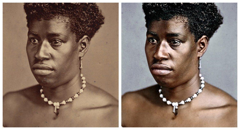Marina Amaral artista digital restaura fotos tiradas antes da abolicao da escravidao 5.1