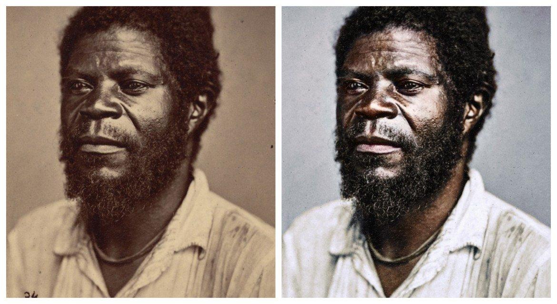 Marina Amaral artista digital restaura fotos tiradas antes da abolicao da escravidao 6