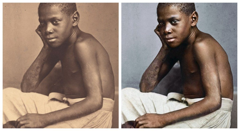 Marina Amaral artista digital restaura fotos tiradas antes da abolicao da escravidao 7