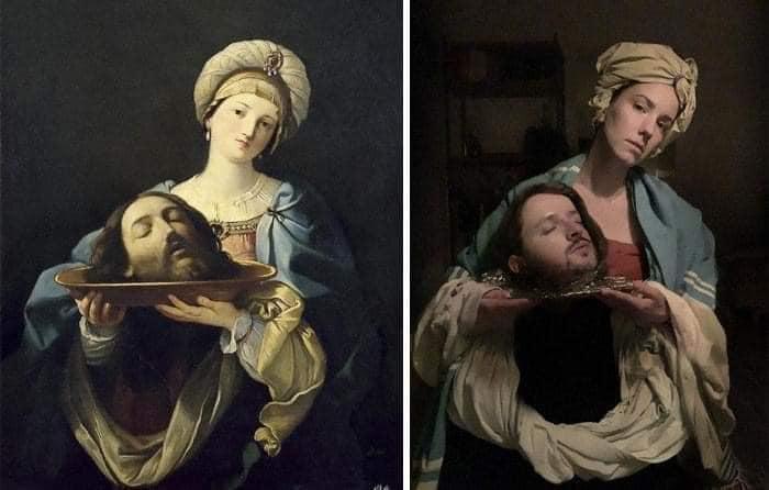 Coisa de quarentena museus pedem e pessoas recriam obras de arte em casa Este e o resultado 12