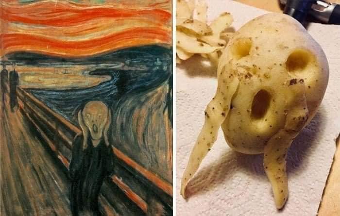 Coisa de quarentena museus pedem e pessoas recriam obras de arte em casa Este e o resultado 16