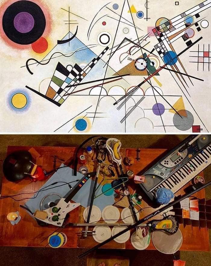 Coisa de quarentena museus pedem e pessoas recriam obras de arte em casa Este e o resultado 21