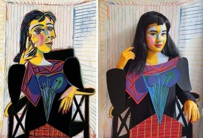 Coisa de quarentena museus pedem e pessoas recriam obras de arte em casa Este e o resultado 23
