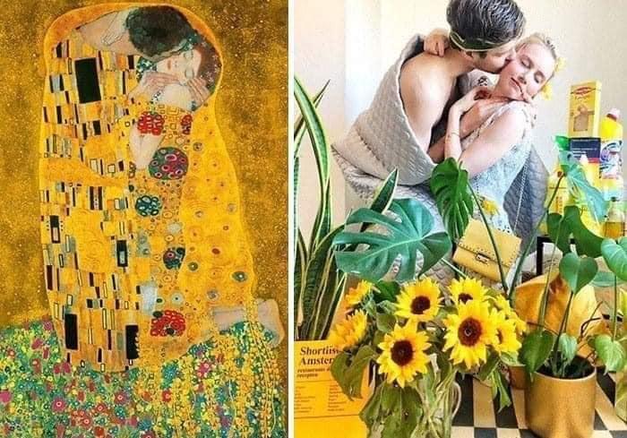 Coisa de quarentena museus pedem e pessoas recriam obras de arte em casa Este e o resultado 26