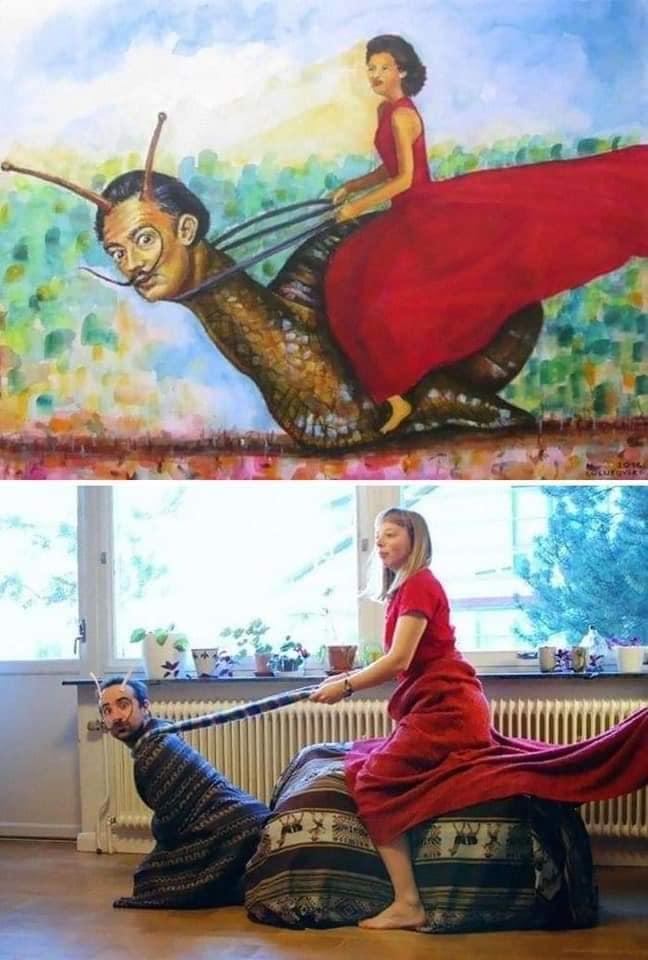 Coisa de quarentena museus pedem e pessoas recriam obras de arte em casa Este e o resultado 8
