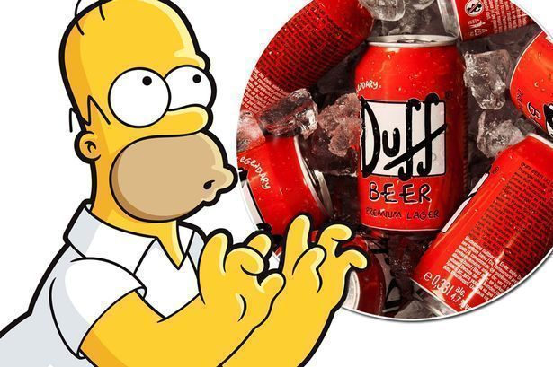 Duff Beer Homer Simpsons