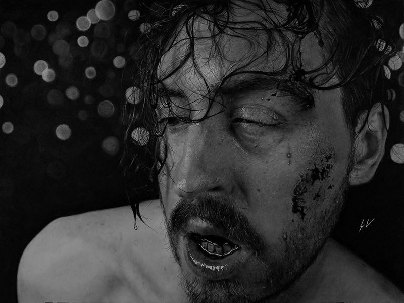 Dylan Eakin autodescrito fotorrealista produz retratos de carvao hiperrealistas 13