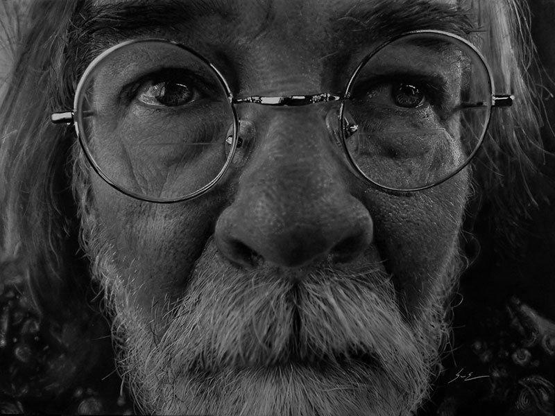 Dylan Eakin autodescrito fotorrealista produz retratos de carvao hiperrealistas 4
