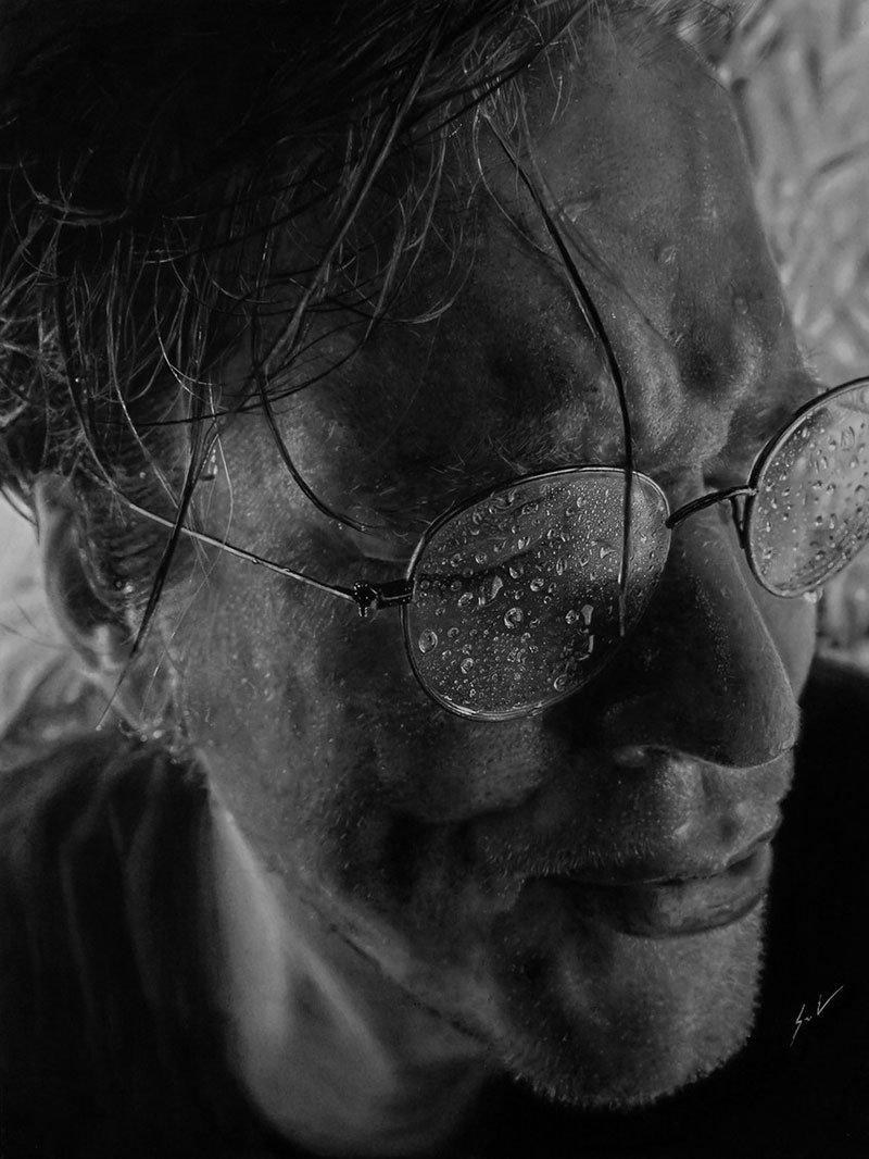 Dylan Eakin autodescrito fotorrealista produz retratos de carvao hiperrealistas 5