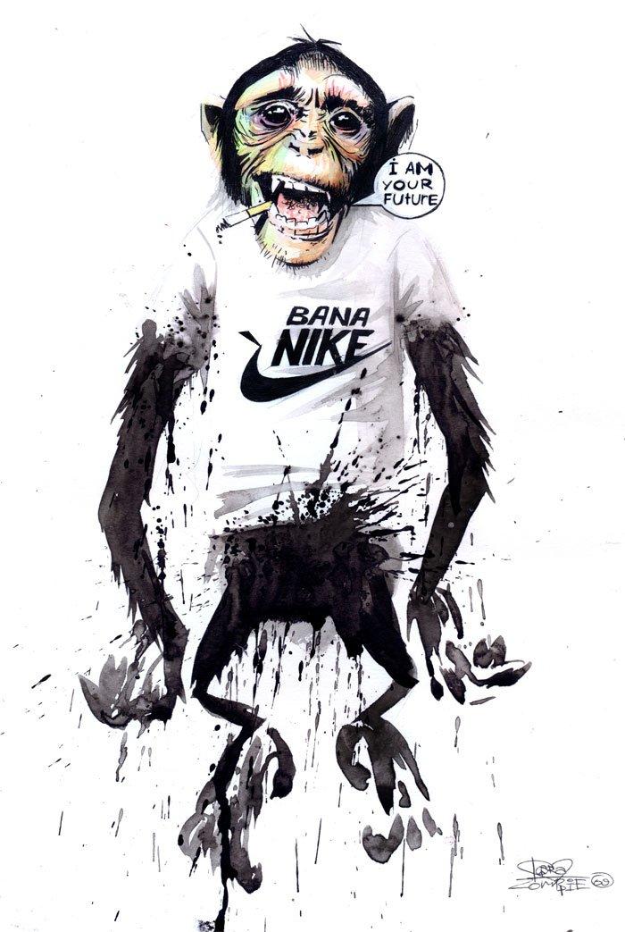 Lora Zombie artista Russa que possui uma arte obscura colorida e repleta de critica 1